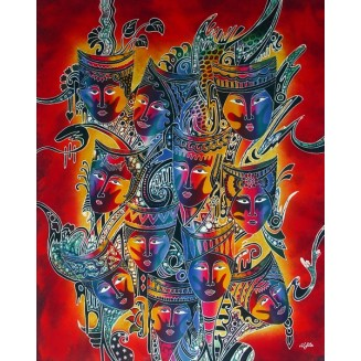 THE BEAUTIFUL MASK BATIK PAINTING ART