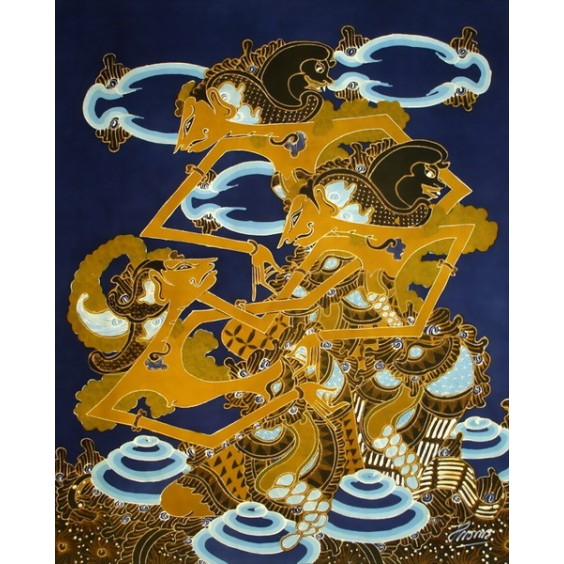 WAYANG RAMA AND SHINTA BATIK PAINTING