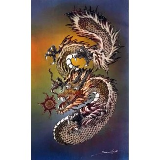Dragon Batik Painting