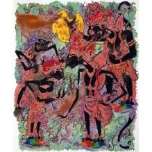 Wayang batik painting