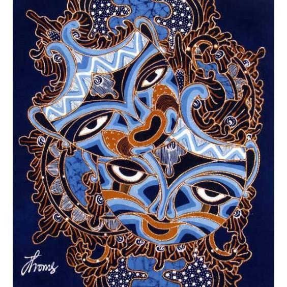 Beautiful Masks Batik Painting