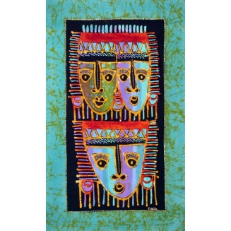 Beautiful Masks Batik Painting