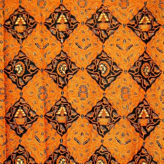BATIK FABRIC / TEXTILE BROWN COLOR